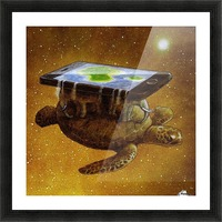 flat world Picture Frame print