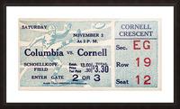 1935 Columbia vs. Cornell Football Ticket Art Picture Frame print