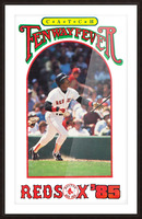 1985 Boston Red Sox Retro Poster Picture Frame print