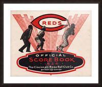 1934 Cincinnati Reds Score Book Metal Sign Picture Frame print