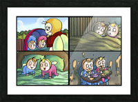 Mom and the Twins - 4 panel Favorites for Kids Room and Nursery - Bugville Critters Picture Frame print