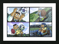 Barry the Beetle in Action   4 panel Favorites for Kids Room and Nursery   Bugville Critters Picture Frame print