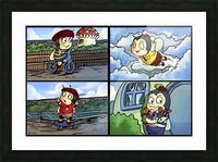 Buster the Bee in Action   4 panel Favorites for Kids Room and Nursery   Bugville Critters Picture Frame print