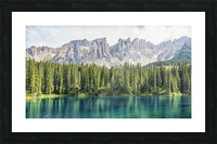 Turquoise Lake Picture Frame print