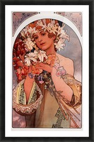 Flowers by Alphonse Mucha Picture Frame print