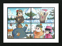 Winter Wonderland Fun   Playing in the Snow   4 panel Favorites for Kids Room and Nursery   Bugville Critters Picture Frame print