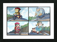 Time for a Bike Ride   Best Friends   4 panel Favorites for Kids Room and Nursery   Bugville Critters Picture Frame print