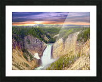 Grand Canyon of Yellowstone - The Falls in the Waning Light of Day - Yellowstone National Park at Sunset Picture Frame print