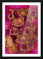 JARS - Original Abstract Acrylic Paint Printed on Canvas by: Rebecca Mangalindan Picture Frame print