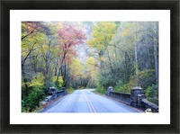 Colorful Fall Evening Picture Frame print
