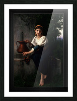 Young Girl Gathering Water At The Fountain by Elizabeth Gardner Classical Fine Art Xzendor7 Old Masters Reproductions Picture Frame print