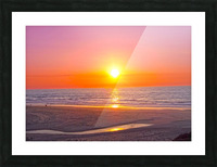 Serenity Found - Calming Atlantic Sunset in Portugal Picture Frame print