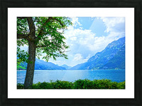 Snapshot in Time Walensee - Lake Walen Switzerland 3 of 3 Picture Frame print