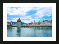 Chapel Bridge   Lucerne Switzerland Picture Frame print