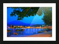 City Lights over Lake Lucerne Switzerland Picture Frame print
