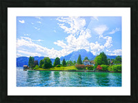 Perfect Day on the shores of Lake Lucerne Switzerland Picture Frame print