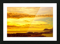 Sunset in Paradise   South Seas Picture Frame print