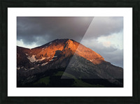 Mountain Bathed in the Golden Rays of the Sun at Sunset in Switzerland 3 of 3 Picture Frame print