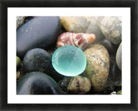 Sea Glass and Seashell Picture Frame print