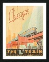 Chicago L Train Vintage Art Poster Picture Frame print