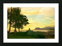 Sunset over the Bay Oahu Hawaii Picture Frame print