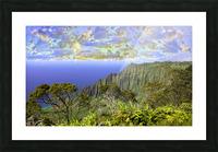 Sunset at Puu O Kila Lookout Kohala Mountains on the Island of Kauai in Hawaii Panorama Picture Frame print