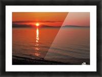 Qualicum Beach Sunset Picture Frame print