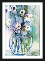 Blue Floral Picture Frame print