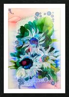 Floral Burst Picture Frame print