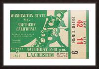 1936 Washington State Cougars vs. USC Trojans Picture Frame print