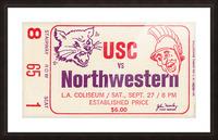 1969 USC Trojans vs. Northwestern Wildcats Picture Frame print