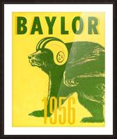 1956 Baylor Bears Vintage Football Art Remix Picture Frame print
