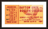 1957 Dayton Flyers vs. Boston College Eagles Picture Frame print