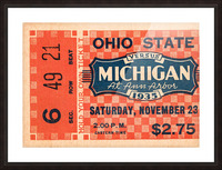 1935 Michigan Wolverines vs. Ohio State Buckeyes Ticket Art Picture Frame print