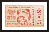 1938 USC Trojans vs. Washington Huskies Picture Frame print
