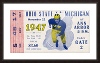 1947 Michigan Wolverines vs. Ohio State Buckeyes Picture Frame print