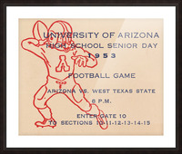 1953 Arizona Wildcats vs. West Texas State  Picture Frame print
