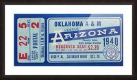 1940 Arizona Wildcats vs. Oklahoma A&M Aggies Picture Frame print