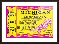 1950 Minnesota Golden Gophers vs. Michigan Wolverines Picture Frame print