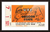 1970 USC Trojans vs. Oregon State Beavers Picture Frame print
