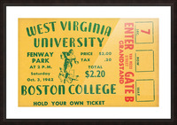 1942 Boston College Eagles vs. West Virginia Mountaineers Picture Frame print