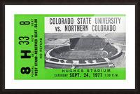 1977 Colorado State Rams vs. Northern Colorado Picture Frame print