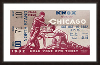 1932 Knox College vs. University of Chicago Picture Frame print