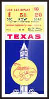 1961 California Bears vs. Texas Longhorns Picture Frame print