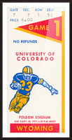 1971 Colorado Buffaloes vs. Wyoming Cowboys Picture Frame print