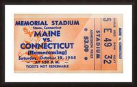 1968 Maine Black Bears vs. UConn Huskies Picture Frame print