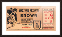 1948 Western Reserve Red Cats vs. Brown Bears Picture Frame print