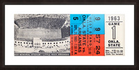 1963 Arkansas Razorbacks vs. Oklahoma State Cowboys Picture Frame print
