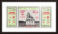 1959 Colorado State Rams vs. Army Cadets Picture Frame print