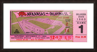 1960 Arkansas Razorbacks vs. Oklahoma State Cowboys Picture Frame print